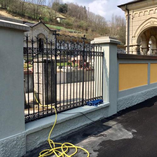 Tinteggiatura al quarzo dei muri perimetrali, verniciatura barriere con ferromicaceo e pulizia cementi armati. | Ponte Nossa (Bergamo) | Tinteggiature Gritti Mattia