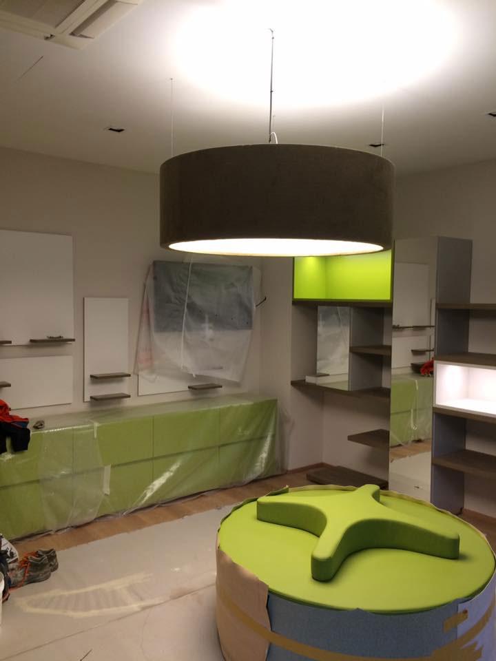 Tinteggiatura d'interni, negozio ortopedico | Spazi Commerciali | Milano | Tinteggiature Gritti Mattia